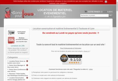 Site internet de Sonopourtous Lyon