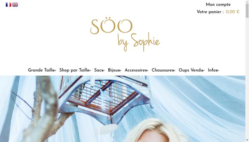 Capture d'écran du site de Soo By Sophie