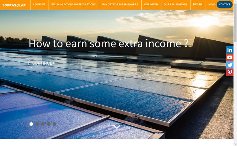 Capture d'écran du site de Solardis