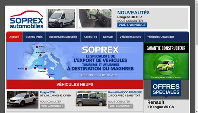 Site internet de Soprex