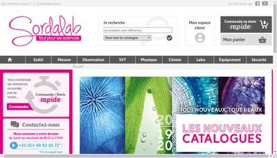 Site internet de Sordalab