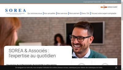 Site internet de Sorea & Associes