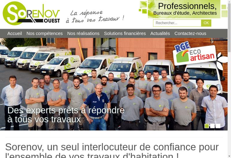 Capture d'écran du site de Sorenov