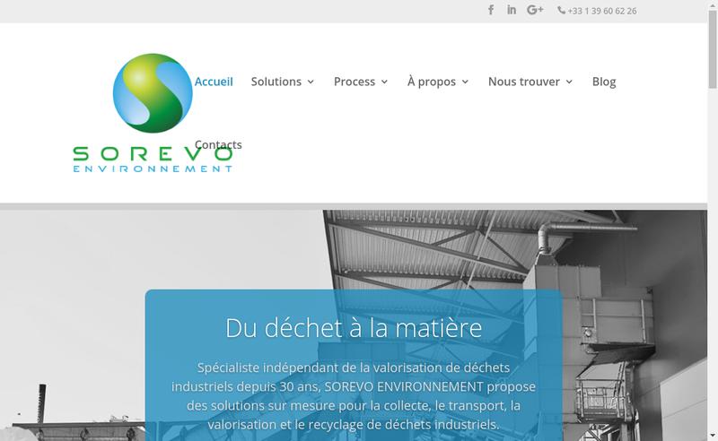 Capture d'écran du site de Metaux 116 Sorevo Environnement