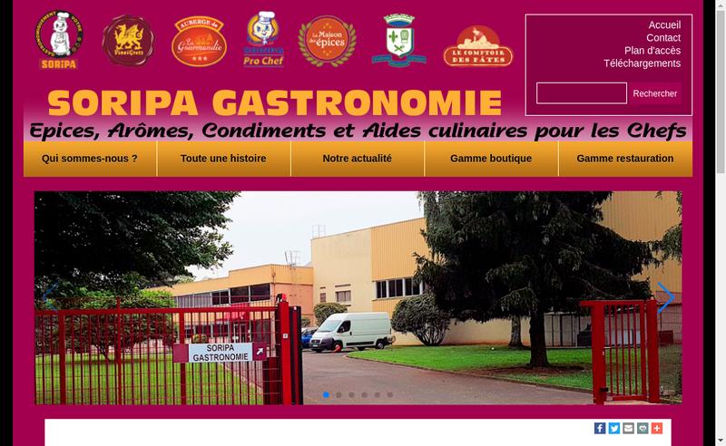 Capture d'écran du site de Soripa - les Restaurateurs et Hoteliers