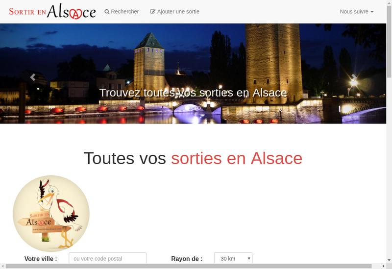 Capture d'écran du site de Sortir en Alsace