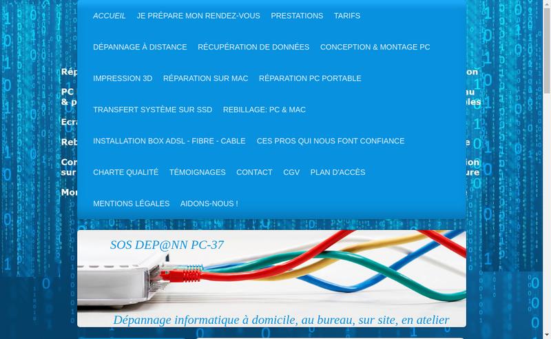 Capture d'écran du site de Ae Clou Iouri