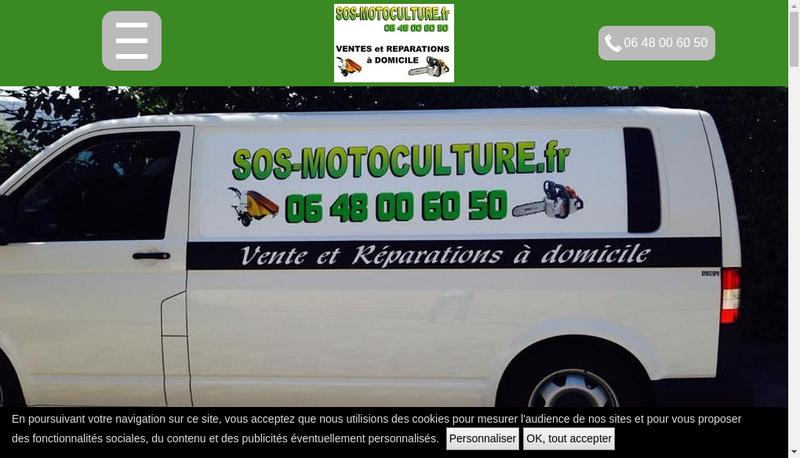 Capture d'écran du site de Sos Motoculture