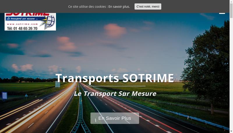 Capture d'écran du site de Sotrime