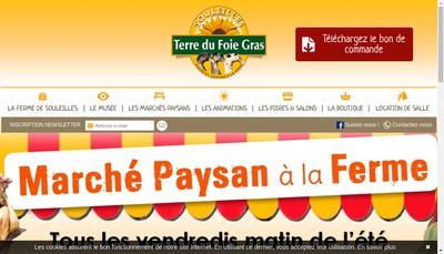 Site internet de Souleilles Foie Gras