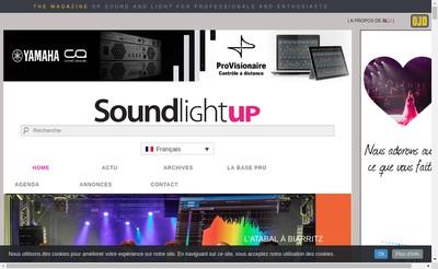 Site internet de Sound Light Up Slu