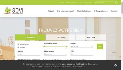 Site internet de Sud Ouest Villages - Sovi