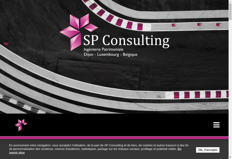 Capture d'écran du site de SP Consulting