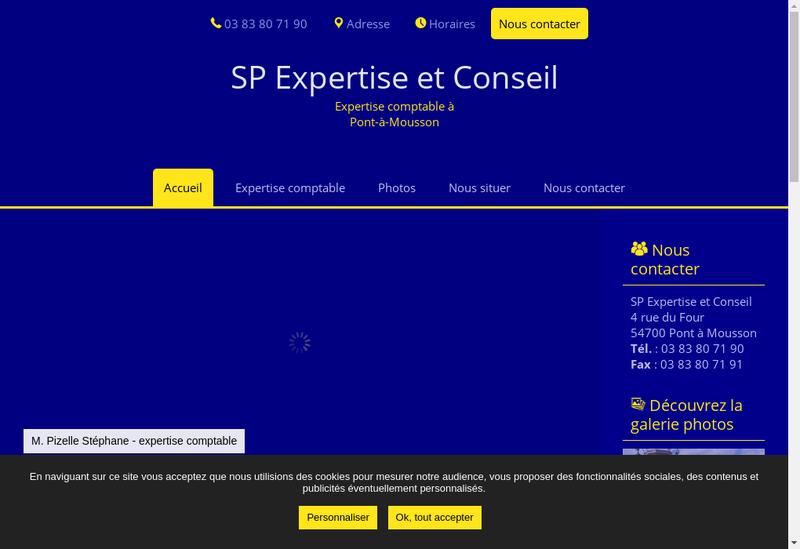 Capture d'écran du site de Stephane Pizelle