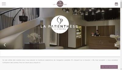 Site internet de La Parenthese