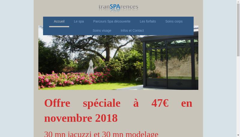 Capture d'écran du site de Transparences
