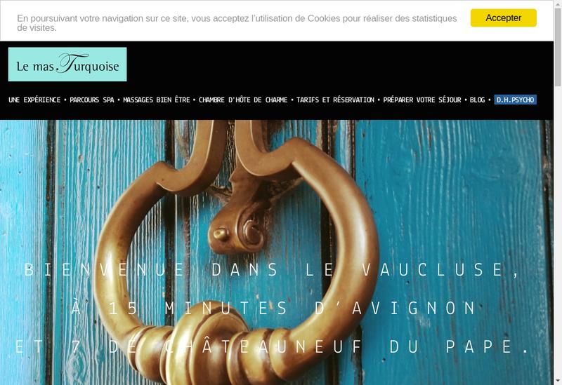 Capture d'écran du site de Le Mas Turquoise