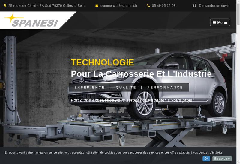 Capture d'écran du site de Spanesi France