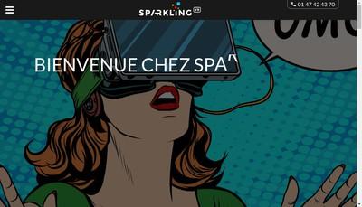 Site internet de Sparkling Vr