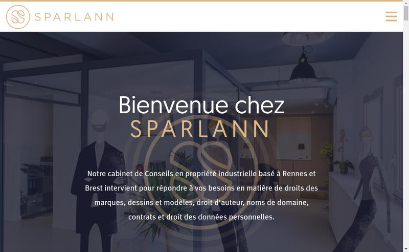 Capture d'écran du site de Sparlann