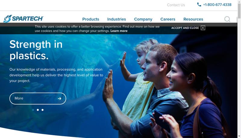 Capture d'écran du site de Spartech