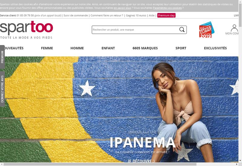 Capture d'écran du site de Spartoo SAS