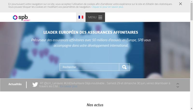 Capture d'écran du site de Spb