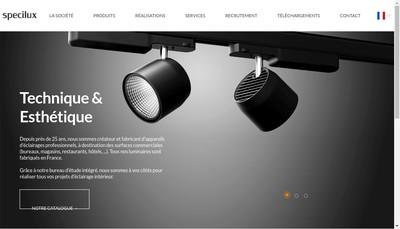 Site internet de Specilux
