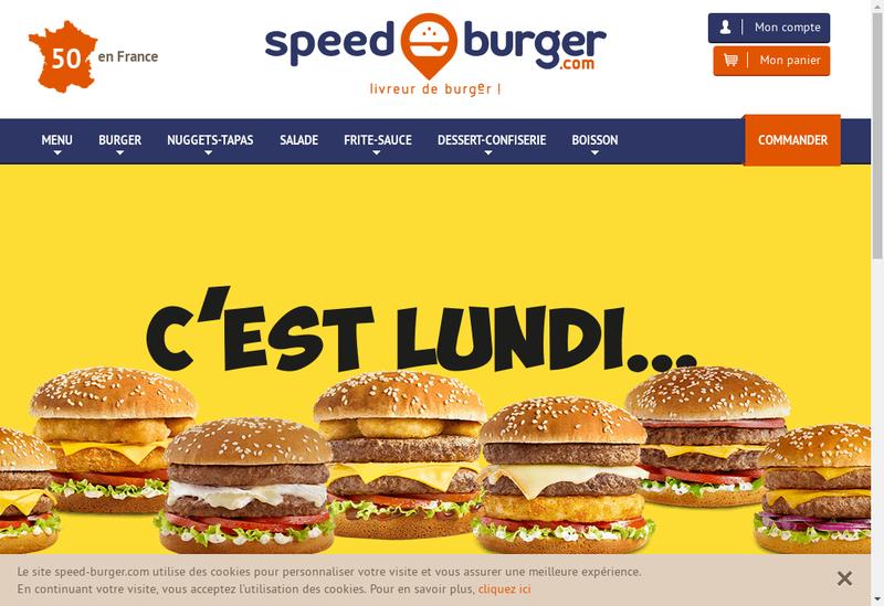 Capture d'écran du site de Speed Burger