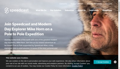 Site internet de Speedcast France
