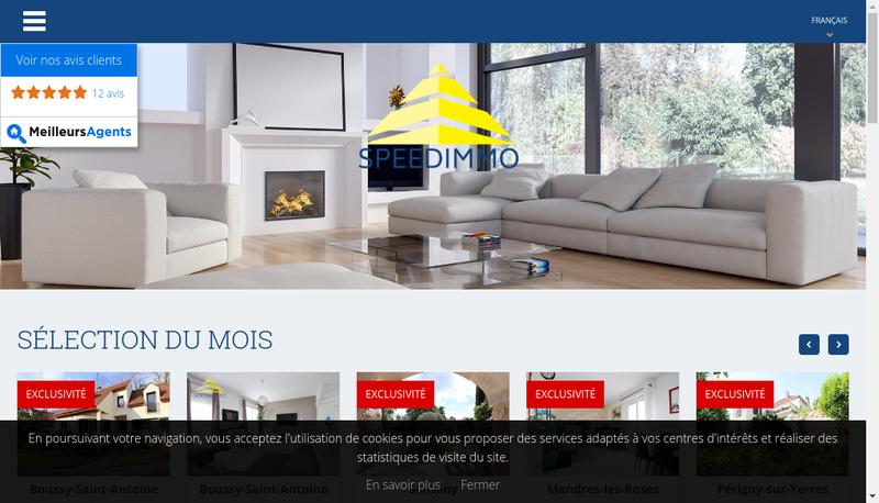 Capture d'écran du site de Speedimmo