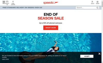 Site internet de Speedo France