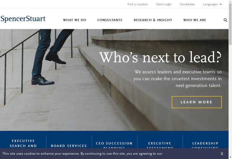Capture d'écran du site de Spencer Stuart