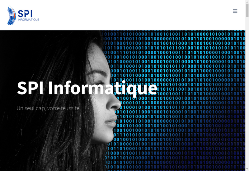 Capture d'écran du site de Spi Informatique