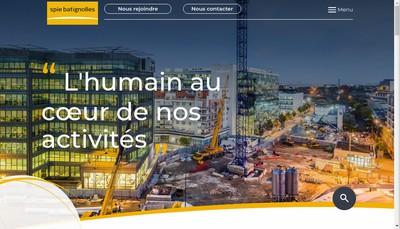 Site internet de Spie Batignolles Immobilier