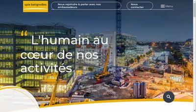 Site internet de Spie Batignolles Sud Ouest