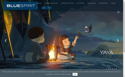 Site internet de Blue Spirit Studio