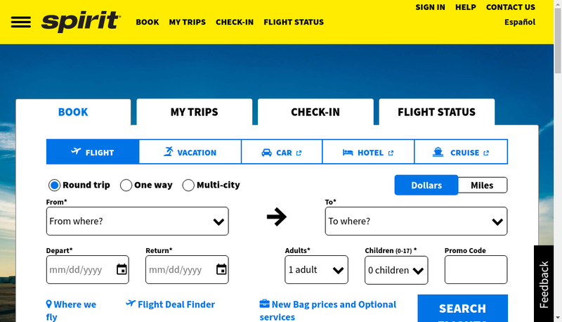 Capture d'écran du site de Myspirit
