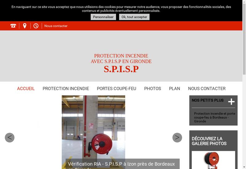 Capture d'écran du site de Spisp