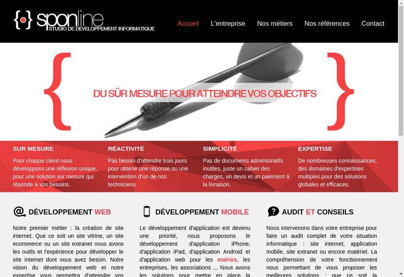 Capture d'écran du site de Sponline