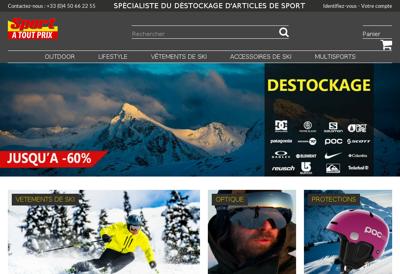 Capture d'écran du site de Sport à Tout Prix