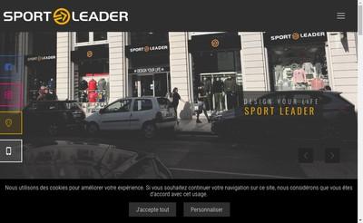 Site internet de Sport Leader