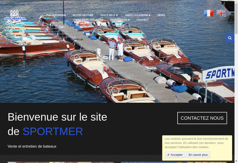 Capture d'écran du site de Sportmer