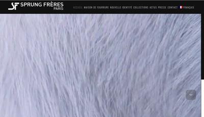 Site internet de Sprung Freres International