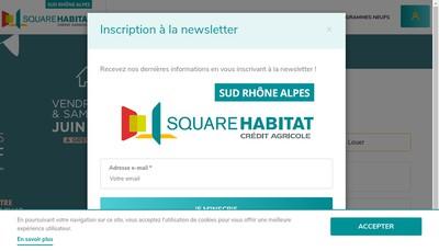 Site internet de Square Habitat Sud Rhone Alpes