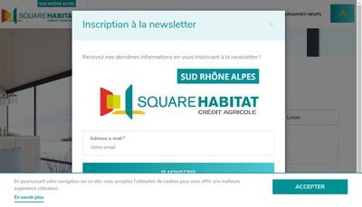 Site internet de Square Habitat