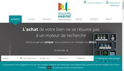 Site internet de Square Habitat Auxerre
