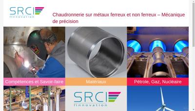 Capture d'écran du site de SRCI