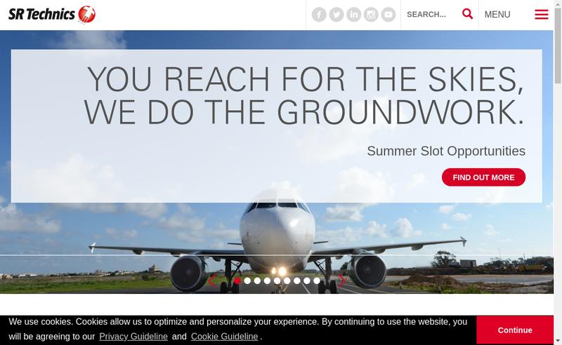 Capture d'écran du site de Sr Technics France SAS