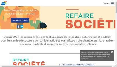 Site internet de Semaines Sociales de France